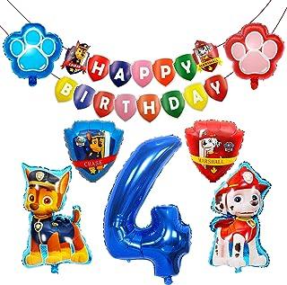 HONGECB Decoración Cumpleaños Patrulla Canina, Globos de Patrulla Canina, Suministros de Fiesta de Patrulla Canina, Perros...