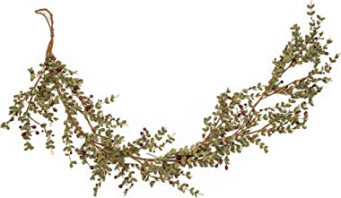 Vita Domi 5' Long PIP Berry Leaf Boxwood Garland