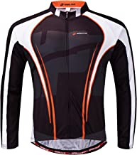 sponeed Men's Bicycle Shirts Long Sleeve Biker Jerseys Full Zipper Winter Cycling Gear Breathable