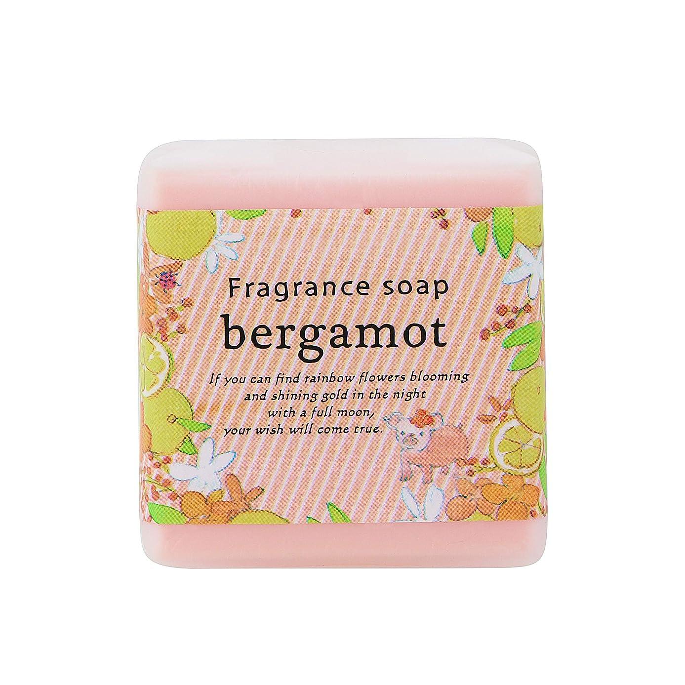 サンハーブ フレグランスソープ40g ベルガモット 12個(プチ石けん ゲストソープ 懐かしい甘酸っぱい香り)