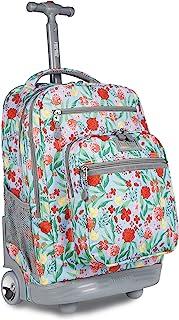 J World New York Sundance Rolling Backpack Girl Boy Roller Bookbag
