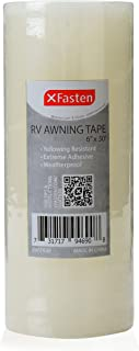 XFasten RV Awning Repair Tape, 6-Inch by 30-Foot, Waterproof Rip Stop Patch for Vinyl, RV punctures, Camper, Awning, Canopy, Tents, Tarpaulin and Greenhouse