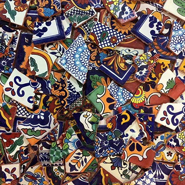 Broken Mexican Tile For Murals And Mosaics 25 Pounds New
