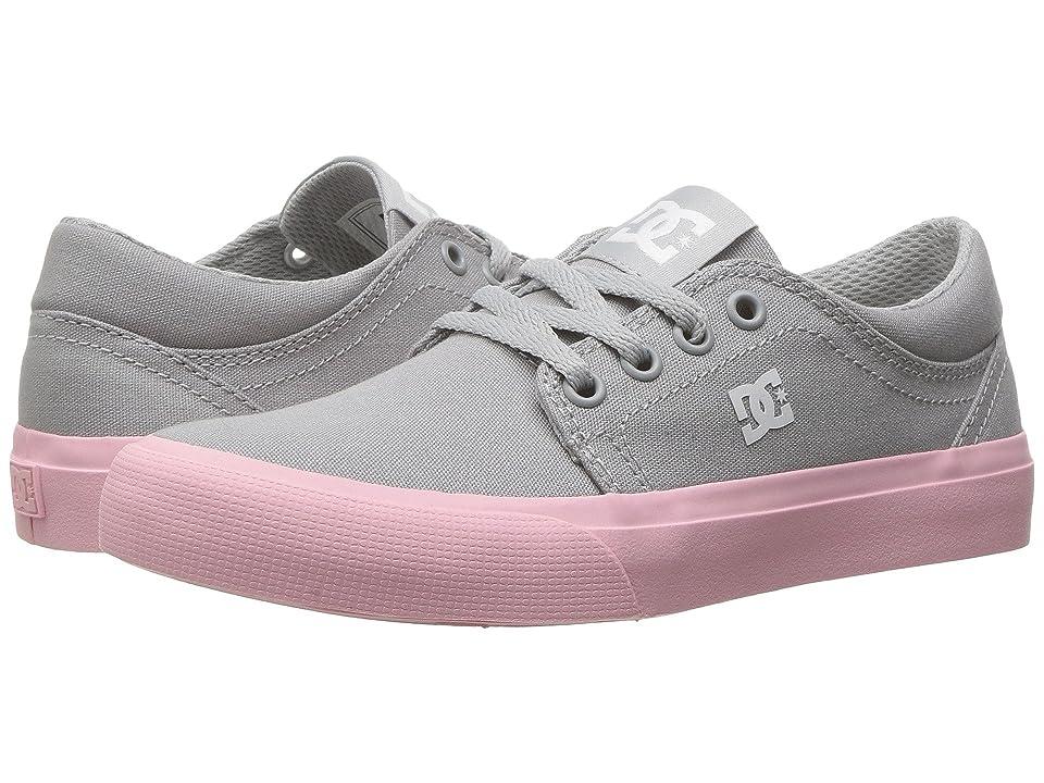 DC Kids Trase TX (Little Kid/Big Kid) (Grey/White) Girls Shoes