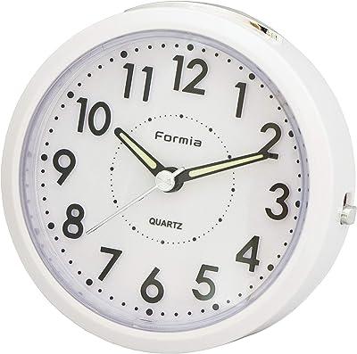 フォルミア(Formia) 目覚まし時計 アナログ ライト付き パールホワイト