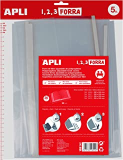 APLI 16914 - Forro de libros con solapa ajustable PP 300 mm