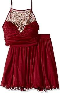 Best burgundy 2 piece dress Reviews