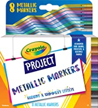 CRAYOLA 58-8352 Metallic Marker Crayola Project 8ct Metallic Markers, Designed for a Variety of Posters, Signs, Projects &...