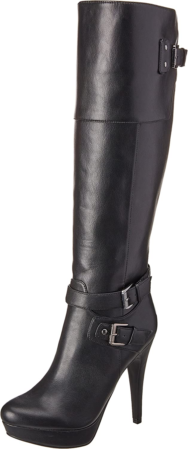 G by Guess Decco Knee-High Platform Boots, Black Multi