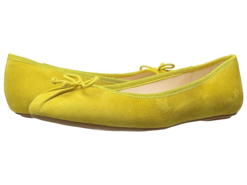 Nine West Batoka Ballerina Flat (Yellow Suede) Women