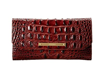 Brahmin Melbourne Soft Checkbook Wallet (Pecan) Wallet Handbags