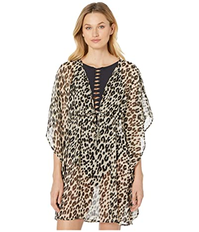 Bleu Rod Beattie Skin Games Caftan Cover-Up (Cheetah) Women