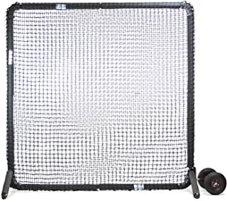 Jugs Protector Series Square Protective Screen -Baseman Protection, 7'H x 7'W, Heavy Duty 691-90 Ply Poly-E Netting. 2-Year Guarantee, Easy Assembly. Comes Standard with Wheel Kit.