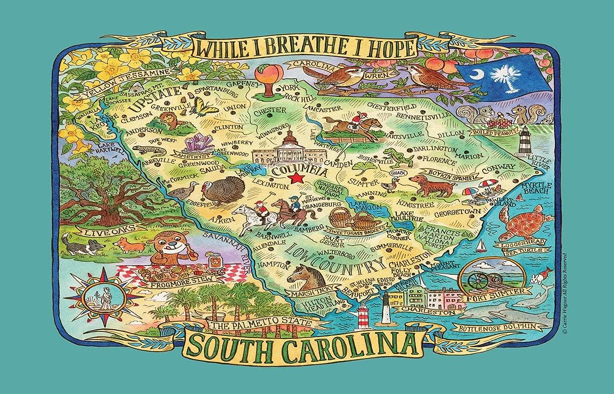 Kay Dee Designs Adventure Destinations South Carolina Map Tea Kitchen Towel 18 X 28 Various