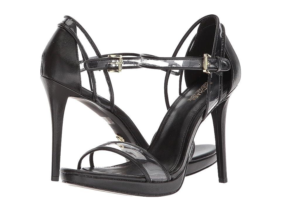 MICHAEL Michael Kors Tamra Platform Sandal (Black Vinyl/Nappa) High Heels