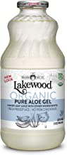Lakewood Organic Pure Aloe Vera Gel, 32 Ounce (Pack of 6)