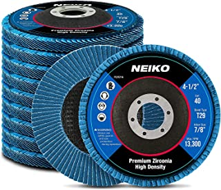 Neiko 11257A High Density Jumbo Premium Zirconia Flap Disc | 4.5