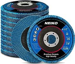 Neiko 11257A High Density Jumbo Premium Zirconia Flap Disc | 4.5