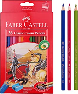 Faber Castell Classic Color Pencils 36 Color School,eco Pencil for Professionals Include Classic Gold,sharpener