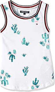 Tommy Hilfiger Girl's 2724636211-White Tank Tops