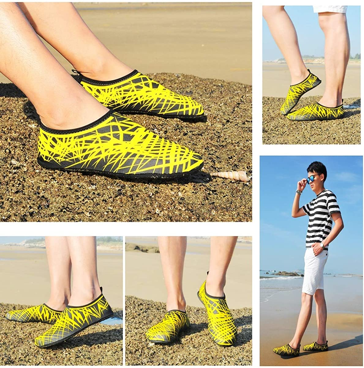 Water Shoes Mens Womens Barefoot Sport Socks Ourdoor Swim Skin Shoes for Beach Running Snorkeling Surfing Diving Yoga Exercise