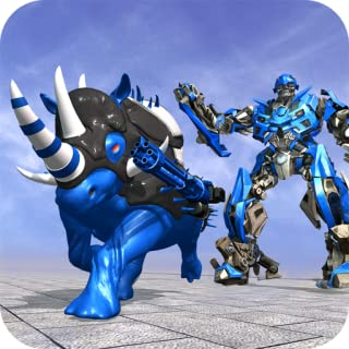 Rhino Robot City Rescue Game