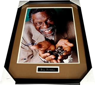Bill Russell Hand Signed Autographed 16X20 Photo Custom Framed 11 Rings Boston