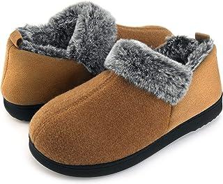 f110f177f ULTRAIDEAS Women s Cozy Memory Foam Slippers with Warm Plush Faux Fur  Lining