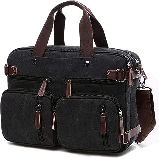 CROCOD Convertible Laptop Backpack 17.3 Inch Messenger Bag for Men/Women