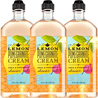 Bath & Body Works Lemon Pomegranate Cream Shower Gel 10 Oz - Lot of 3