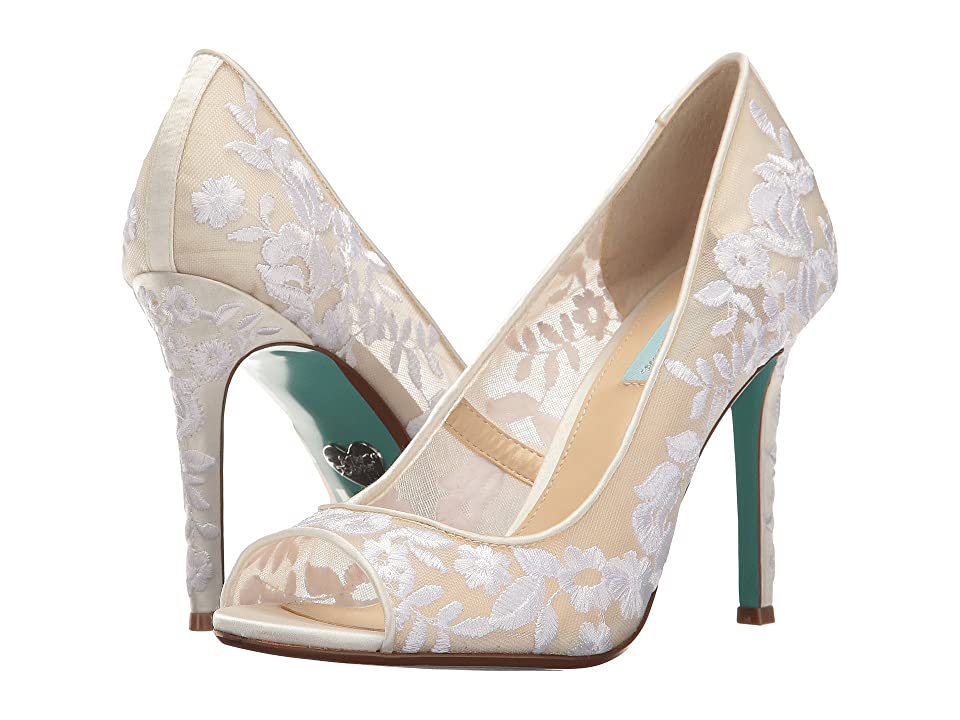 Blue by Betsey Johnson Adley (Ivory Fabric) High Heels