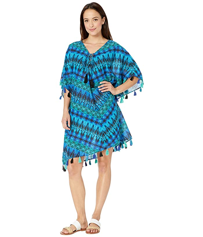 Miraclesuit Cabana Chic Caftan Cover-Up (Blue) Women