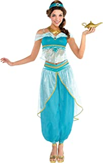 SUIT YOURSELF Jasmine Costume Couture for Adults, Includes a Top, Pants, a Necklace, a Sash, and a Lamp Prop
