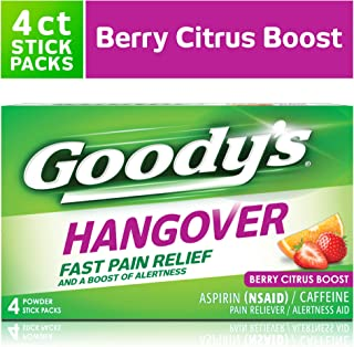 Goody's Hangover, Fast Pain Relief, 4 Stick Powders Each