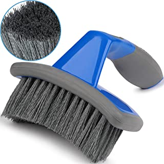 Relentless Drive Tire Brush - Auto Detailing Car Wash Brush, Ergonomic Grip with Curved Head for Tires and Wheels, Tire Brush for Car, Truck, SUV & Motorcycle Tire Shine