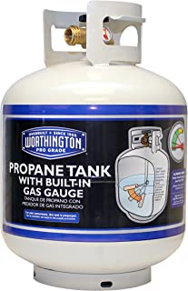 Worthington 336483 20-Pound Steel Propane Cylinder With Type 1 With Overflow Prevention Device Valve And Sight Gauge