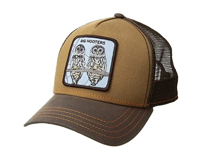 Goorin Brothers  Animal Farm Snap Back Trucker Hat (Brown Hooters) Caps