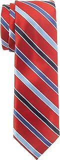 Chaps Boys' Big Classic Stripe Tie, Red, One Size