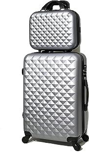 Valise Cabine/Moyen/Grande avec ou sans Vanity, Marque Française (Silver (5802), Moyen & Vanity)