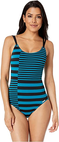Stripe Group Strappy One-Piece