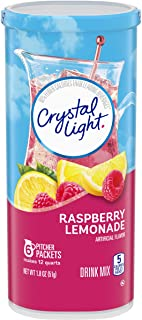 Crystal Light Raspberry Lemonade Drink Mix (72 Pitcher Packets, 12 Packs of 6)