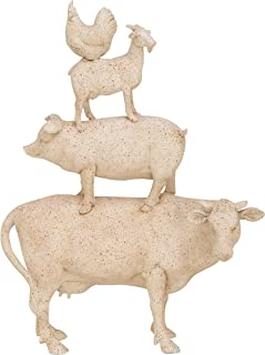 Deco 79 Trendy PS Stacking Animals, White