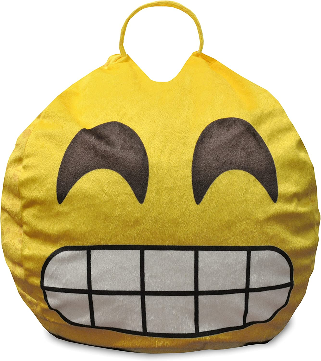 Emoji Pals Flawless Bean Bag with Handle, Yellow, 55
