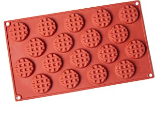 Round Silicone Mold, 18 Holes Baking Mold Cake Pan Biscuit Chocolate Mold for Cake Decoration, Ice Cube Tray
