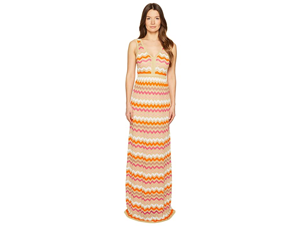 M Missoni Ombre Zigzag Maxi Dress (White) Women