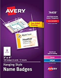 Best avery plastic name badge holder Reviews