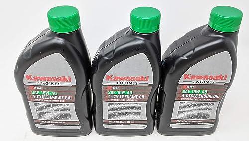 2021 Kawasaki outlet sale 99969-6296 SAE 10W-40 sale 4-Cycle Engine Oil (3-Quarts) outlet online sale