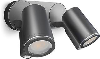 Steinel Spot Duo Sensor Anslut LED-Strålkastare med Rörelsesensor, Antracit [Energiklass A +]