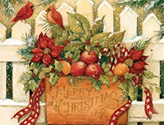 "LANG 1004675 -""Merry Christmas Welcome, Boxed Christmas Cards, Artwork by Susan Winget - 18 Cards, 19 envelopes - 5.375"" x 6.875"""