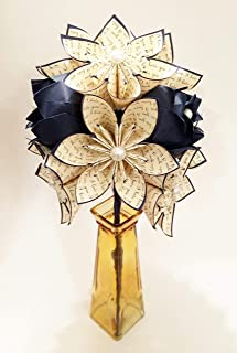 Paper Flowers & Roses Dozen- Custom First Anniversary gift, origami, one of a kind paper bouquet, traditional gift, perfect for her